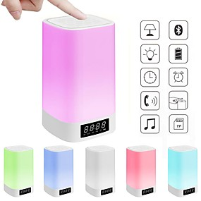 cheap LED Smart Lights-Colorful Lights Wireless Bluetooth Time Night Light 1 pc