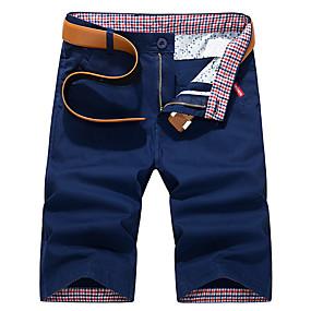 preiswerte 2019 Shorts-Herrn Street Schick Alltag Chinos / Kurze Hosen Hose - Solide Blau Königsblau Khaki 28 29 30
