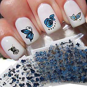 voordelige Nagelkunst-24 pcs 3D Nagelstickers Creatief / Vlinder Nagel kunst Manicure pedicure Beste kwaliteit modieus / Modieus Dagelijks