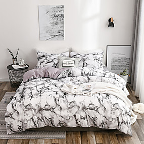 cheap Trend Duvet Covers-Duvet Cover Sets Stripes Ripples Polyster Printed 3 Piece Bedding Set With Pillowcase Bed Linen Sheet Single Double Queen King Size Quilt
