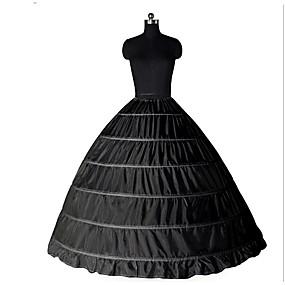 preiswerte Ideias Para Aproveitar o Tempo Livre-Prinzessin Minimantel Tutu Unter Rock Classic Lolita 50er 6 Reifen Schwarz Weiß Minimantel / Krinoline