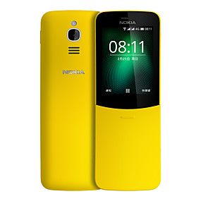 "preiswerte Feature-Telefone-NOKIA 8110 2.4 Zoll "" 4G Smartphone ( 512MB + 4GB 2 mp MSM8905 1500 mAh mAh )"