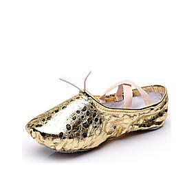 preiswerte Top Shoes & Bags-Damen Tanzschuhe Kunststoff Balletschuhe Tupfen Flach, Ballerina Flacher Absatz Maßfertigung Gold / Silber / Innen / EU39