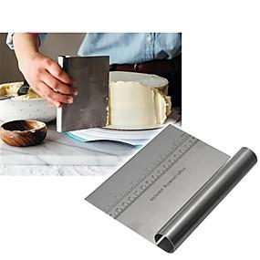 preiswerte Plätzchen-Werkzeuge-edelstahl pizza teigkratzer cutter backen spachtel fondant kuchen dekoration werkzeuge küche zubehör