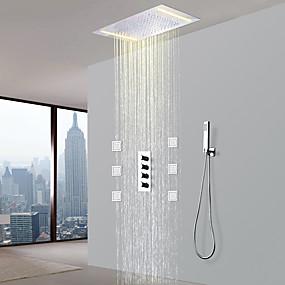 preiswerte Armaturen-Duscharmaturen - Moderne Chrom Keramisches Ventil Bath Shower Mixer Taps / Messing / Vier Griffe Fünf Löcher