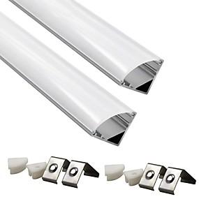 preiswerte Beleuchtungszubehör-ZDM® 2pcs 100 cm Streifenlicht-Zubehör Kunststoff und Metall / Aluminium Lampenschirm Weiß / Durchsichtig für DIY Pflanze Blume Seeding Licht / für LED-Streifenlicht