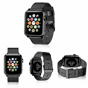 preiswerte Smart Watch Band-Edelstahl Uhrenarmband Gurt für Apple Watch Series 4/3/2/1 Schwarz / Silber / Rot 23cm / 9 Zoll 2.1cm / 0.83 Inch