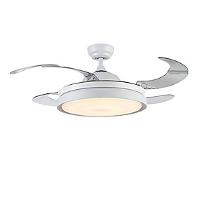 cheap Ceiling Lights & Fans-1-Light QINGMING® 108 cm LED Ceiling Fan Metal Painted Finishes Traditional / Classic / Modern 110-120V / 220-240V