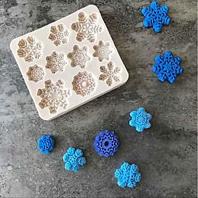 povoljno Predbožićna-1pc Silikonska guma Silikon Silikonski gel Predbožićna Lijep 3D Torta / kolači Keksi Čokoladno smeđa Pravokutno Torte za kalupe Bakeware alati