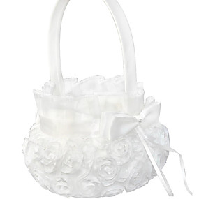 "povoljno Darovi i pokloni za zabave-Flower Basket Polyester 4 1/3 ""(11 cm) Cvjetni print 1 pcs"