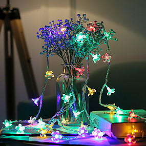 cheap Light Strips & Strings-3m String Lights 20 LEDs 1 set Multi Color Decorative AA Batteries Powered