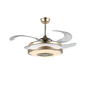 povoljno Lámpatestek-QINGMING® Stropni ventilator Ambient Light Electroplated Metal LED, Bluetooth kontrola 110-120V / 220-240V Više boja