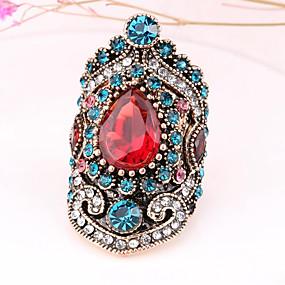 ราคาถูก แหวนวินเทจ-สำหรับผู้หญิง แหวน 1pc สีทอง พลอยเทียม โลหะผสม ผิดปกติ สุภาพสตรี ไม่ปกติ เอเชียน ทุกวัน เครื่องประดับ สไตล์วินเทจ ช่าง มายากล