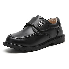 preiswerte Kids' Oxfords-Jungen Komfort Leder Flache Schuhe Kleinkind (9m-4ys) / Kleine Kinder (4-7 Jahre) / Große Kinder (ab 7 Jahren) Klettverschluss Schwarz Herbst Winter
