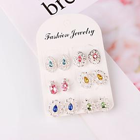 povoljno Nakit za vjenčanje i izlaske-Žene Sitne naušnice Klasičan Jednostavan Klasik Naušnice Jewelry Pink Za Dnevno 6 Parovi
