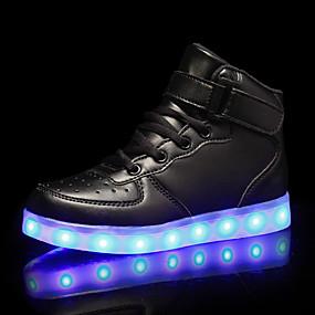 preiswerte Schuhe für Kinder-Jungen Leuchtende LED-Schuhe PU Sneakers Kleine Kinder (4-7 Jahre) / Große Kinder (ab 7 Jahren) Schwarz / Weiß / Rot Herbst