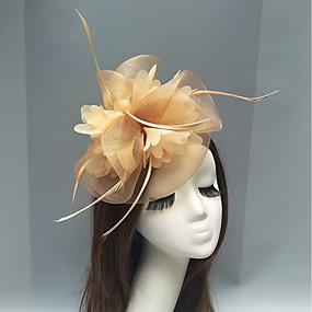 povoljno Melbourne Cup Carnival Hats-Perje / Net Fascinators / Headpiece s Perje / Cvjetni print / Cvijet 1pc Vjenčanje / Special Occasion / Čajanka Glava