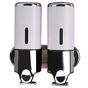 cheap Soap Dispensers-Soap Dispenser Premium Design / Cool Contemporary Metal Wall Mounted Shampoo Conditioner Dispenser 480ml