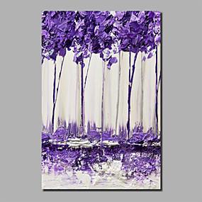 povoljno Slike za cvjetnim/biljnim motivima-Hang oslikana uljanim bojama Ručno oslikana - Sažetak Cvjetni / Botanički Comtemporary Moderna Uključi Unutarnji okvir / Valjani platno / Prošireni platno