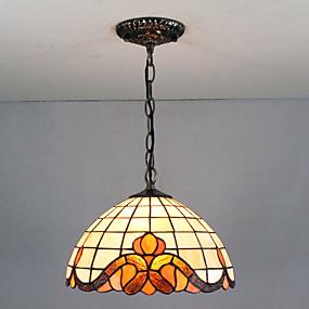 povoljno Viseća rasvjeta-Privjesak Svjetla Ambient Light Slikano završi Glass Glass Višebojno sjenilo, Kreativan 110-120V / 220-240V