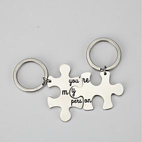 povoljno Privjesci za ključeve-Klasični Tema / Kreativan / Vjenčanje Privjesak favorizira nehrđajući Privjesci za ključeve - 2 pcs Sva doba