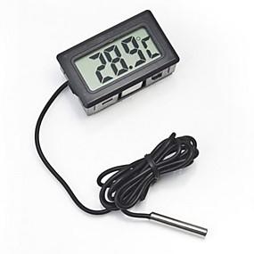 preiswerte Dekorationen-Digitales eingebettetes Thermometer LCD-Anzeige für sofortiges Lesen Kühlschrank-Aquarium mit wasserdichtem Detektor