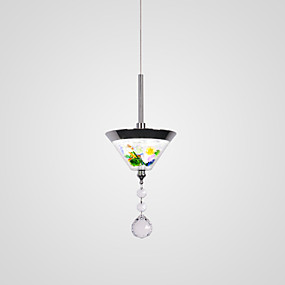 preiswerte Tiffany-Glaskunst Beleuchtung-CONTRACTED LED Kegel Pendelleuchten Raumbeleuchtung Galvanisierung Metall Acryl Ministil, Niedlich, Kreativ 110-120V / 220-240V