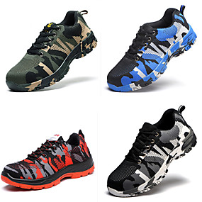 cheap Industrial Protection-Work Safety Shoes Boots for Workplace Safety Supplies Casual Breathable Outdoor Sneakers Waterproof Various Sizes