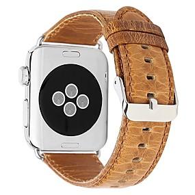 preiswerte Smart Watch Band-Echtleder Uhrenarmband Gurt für Apple Watch Series 4/3/2/1 Braun 23cm / 9 Zoll 2.1cm / 0.83 Inch