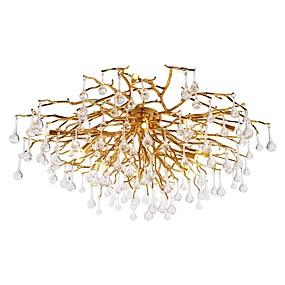 cheap Ceiling Lights-QIHengZhaoMing 8-Light 60 cm Flush Mount Lights Metal Sputnik Electroplated Traditional / Classic 110-120V / 220-240V / G9