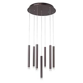 povoljno Viseća rasvjeta-Ecolight™ 7-Light Cilindar / Konus Privjesak Svjetla Ambient Light Anodized Aluminij Acrylic Kreativan, Prilagodljiv 110-120V / 220-240V Meleg fehér / Bijela