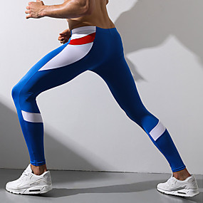 cheap Running & Jogging-Superbody Men's Running Tights Leggings Compression Pants Sports & Outdoor Tights Leggings Cotton Winter Gym Workout Running Walking Jogging Butt Lift Breathable Soft Sport Charcoal White Red Blue