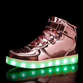 voordelige Damessneakers-Dames Sneakers Lage hak Ronde Teen Elastische stof / Tissage Volant Informeel Herfst winter Goud / Zilver / Roze