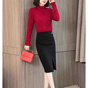 preiswerte Damenbekleidung-Damen Solide - Grundlegend Übergrössen Bodysuit, Ständer Weiß