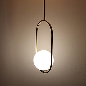 povoljno Viseća rasvjeta-Cirkularno / Mini Privjesak Svjetla Ambient Light Antique Brass Electroplated Metal Glass Zaštita očiju 110-120V / 220-240V