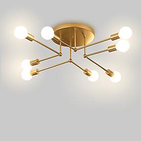 povoljno Lámpatestek-8-Light industrijski Lusteri Ambient Light Slikano završi Metal Mini Style 110-120V / 220-240V Meleg fehér