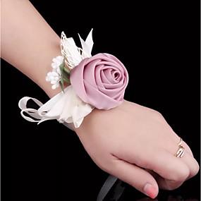preiswerte Hochzeitsblumen-Hochzeitsblumen Armbandblume Hochzeit / Hochzeitsfeier Seide / Stoffe 0-10 cm