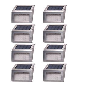 preiswerte Außenwandleuchten-8St 1 W Leuchte für Rasenplatz / LED-Straßenleuchte / Solar-Wandleuchte Wasserfest / Solar / Dekorativ Warmes Weiß / Weiß 1.2 V Außenbeleuchtung / Hof / Garten 2 LED-Perlen