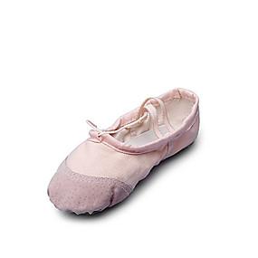preiswerte Top Shoes & Bags-Damen Tanzschuhe Leinwand Balletschuhe Flach, Ballerina Flacher Absatz Keine Maßfertigung möglich Beige / Rot / Rosa / Innen / EU40