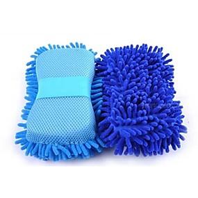 billige Spesialtilbud-multi-funksjon mikrofiber bilvask svamp premium chenille vaske svamper for bil
