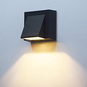billige Flomlys-1pc 3 W LED-lyskastere Vanntett Varm hvit Kjølig hvit 85-265 V Utendørsbelysning Courtyard Have 1 LED perler