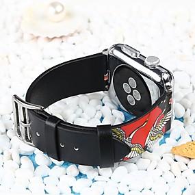 preiswerte Smart Watch Band-Echtleder Uhrenarmband Gurt für Apple Watch Series 4/3/2/1 Schwarz 23cm / 9 Zoll 2.1cm / 0.83 Inch