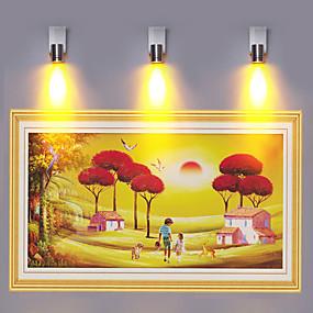 povoljno Lámpatestek-mini stil moderna / suvremena ugradbena zidna svjetla učionica / ured / unutarnji aluminijski zidno svjetlo ip44 85-265v 1 w svjetlo