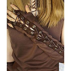preiswerte Be a Viking!-Seeräuber Mit Schleife Steampunk Handschuhe Damen Baumwolle Kostüm Kaffee Vintage Cosplay Langarm