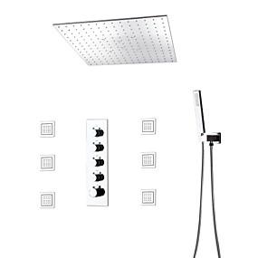 preiswerte Armaturen-Duscharmaturen - Moderne / Modern Chrom Duschsystem Keramisches Ventil Bath Shower Mixer Taps / Messing / Einhand-Vierloch