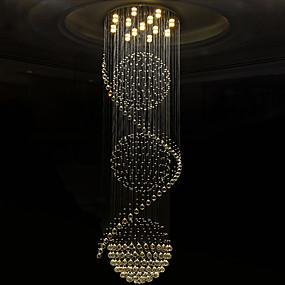 preiswerte Top Seller-Kristall Kronleuchter Moonlight Galvanisierung Metall Kristall, Inklusive Glühbirne, Designer 110-120V / 220-240V Wärm Weiß / Kühl Weiß / GU10