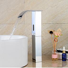 preiswerte Induktions-Hähne-Waschbecken Wasserhahn - Sensor Messing Freistehend Hände frei Ein LochBath Taps