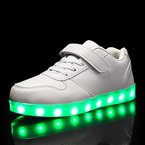 preiswerte Schuhe für Kinder-Jungen Leuchtende LED-Schuhe PU Sneakers Kleine Kinder (4-7 Jahre) / Große Kinder (ab 7 Jahren) Rot / Blau / Rosa Herbst / Winter