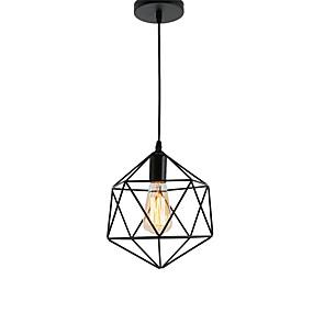 povoljno Viseća rasvjeta-staro crno metalno kavezno potkrovlje privjesak svjetiljke dnevni boravak blagovaonica hodnik kafe bar svjetiljka oslikana završnom obradom