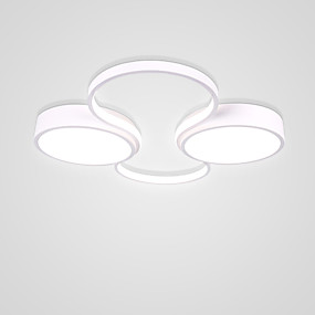 cheap Dimmable Ceiling Lights-2-Light Circular Novelty Flush Mount Lights Ambient Light Painted Finishes Aluminum 110-120V 220-240V Warm White Cold White